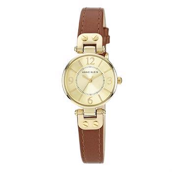 Anne Klein Leather Forgyldt stål Miyota quartz dame ur, model 10-9442CHHY