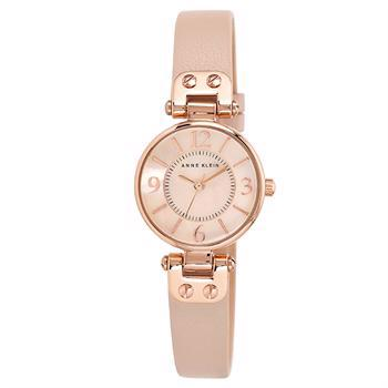 Anne Klein Leather rosa forgyldt stål Miyota quartz dame ur, model 10-9442RGLP