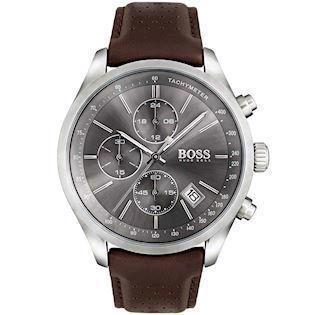 Hugo Boss Grand-Pris Chronograph mat rustfri stål quartz herre ur, model 1513476