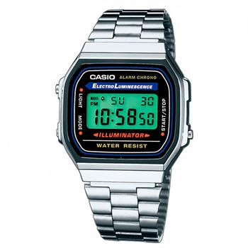 Casio Classic Rustfri stål med resin Batteridrevet quartz Unisex ur, model A168WA 1YES
