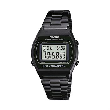 Casio Collection Sort Rustfri stål Batteridrevet quartz Herre ur, model B640WB 1AEF