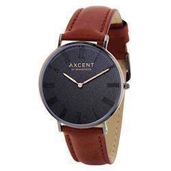 Axcent of Scandinavia Career blank IP sort rustfri stål Quartz Unisex ur, model IX5690B-02