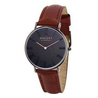 Axcent of Scandinavia Career blank IP sort rustfri stål Quartz Unisex ur, model IX5710B-02