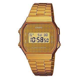 A168WG-9BWEF Casio forgyldt retro digitalt herreur