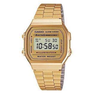 A168WG-9EF Casio forgyldt retro digitalt herreur