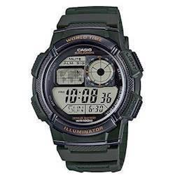 Casio Classic army grøn resin med stål quartz multifunktion (3198) Herre ur, model AE-1000W-3AVEF