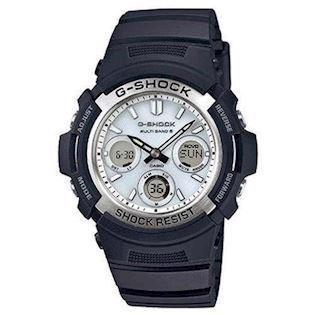 Casio G-Shock sort resin med stål quartz multifunktion (5230) Herre ur, model AWG-M100S-7AER