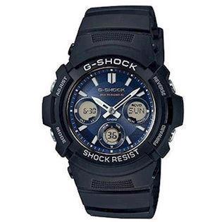 Casio G-Shock sort resin med stål quartz multifunktion (5230) Herre ur, model AWG-M100SB-2AER