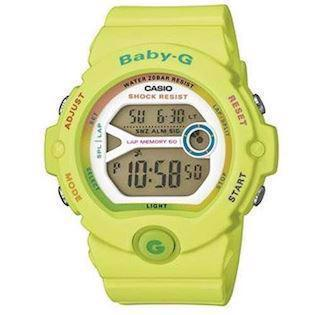 Casio Baby-G gul resin med stål quartz multifunktion (3408) Dame ur, model BG-6903-3ER