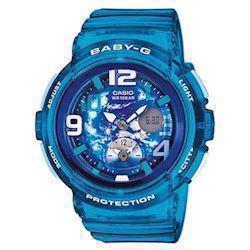 Casio Baby-G lyse blå quartz multifunktion (5382) Dame ur, model BGA-190GL-2BER