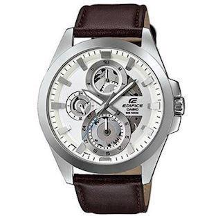 Casio Edifice mat rustfri stål quartz dual time (A-5486) Herre ur, model ESK-300L-7AVUEF