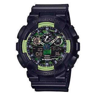 Casio G-Shock sort resin med stål quartz multifunktion (5081) Herre ur, model GA-100LY-1AER