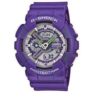 Casio G-Shock lilla resin med stål quartz multifunktion (5146) Unisex ur, model GA-110DN-6AER