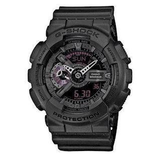 Casio G-Shock sort resin med stål quartz multifunktion (5146) Herre ur, model GA-110MB-1AER