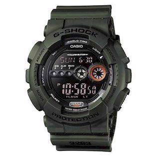 Casio G-Shock army resin med stål quartz multifunktion (3263) Herre ur, model GD-100MS-3ER