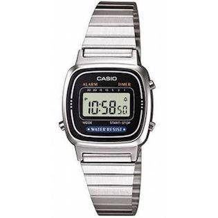 LA-670WEA-1EF Casio Collection dameur<br>stål med sort urskive