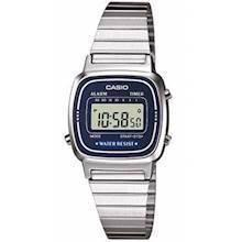 LA-670WEA-2EF Casio Collection Dameur<br>stål med blå urskive