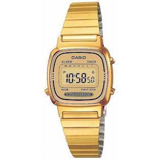 LA-670WEGA-9EF Casio Collection dameur<br>forgyldt stål med forgyldt urskive
