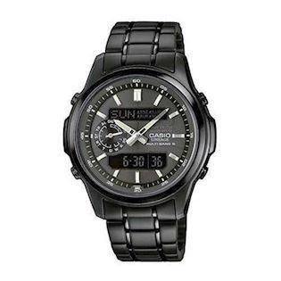 Casio Wave Ceptor mat sort IP quartz multifunktion (5110) med radio styring Herre ur, model  LCW-M300DB-1AER