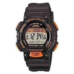 Casio Basic sort / orange med stål quartz multifunktion (3440) Herre / ungdom ur, model STL-S300H-1BEF