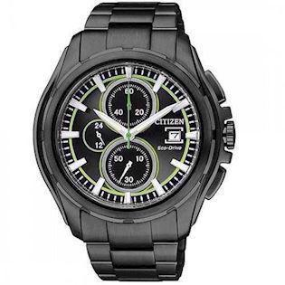 CA0275-55E Citizen all black herreur <br> Chronograph og Eco-Drive