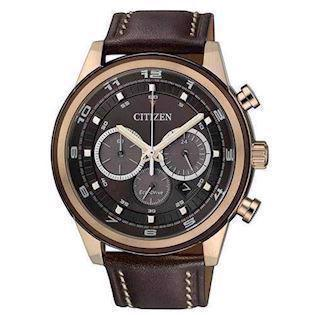 Citizen  mat forgyldt stål quartz med Eco-Drive Herre ur, model CA4037-01W
