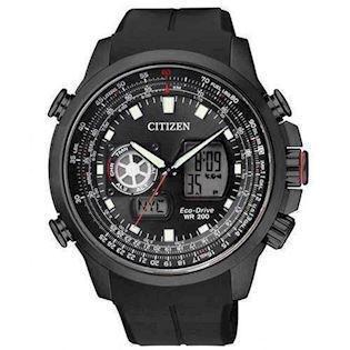Citizen Promaster - Sky IP sort rustfri stål quartz med Eco-Drive Herre ur, model JZ1065-05E