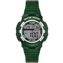 Club Time Club Time Grøn Gummi Quartz Drenge ur, model A47101GR12E