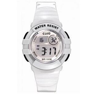 Club Time Club Time hvidt Gummi Quartz ur, model A47101H0E