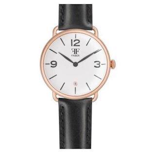 Faber-Time  rosa forgyldt stål Quartz Herre ur, model F1001RG