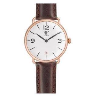 Faber-Time  rosa forgyldt stål Quartz Herre ur, model F1002RG