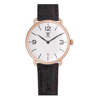 Faber-Time  rosa forgyldt stål Quartz Herre ur, model F1004RG