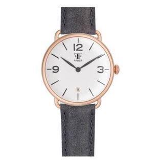 Faber-Time  rosa forgyldt stål Quartz Herre ur, model F1005RG