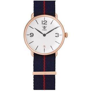 Faber-Time  rosa forgyldt stål Quartz Herre ur, model F1007RG