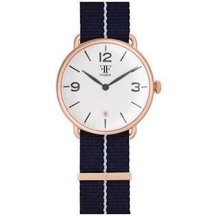 Faber-Time  rosa forgyldt stål Quartz Herre ur, model F1008RG