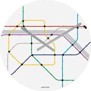 Karlsson, Metro Map, You are here, quartz Vægur ur i glas, model KA5374