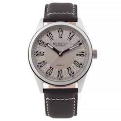 No Watch 24 timers ur med sort kalveskinds urrem, CM1-2821