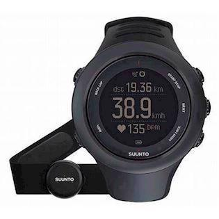 Suunto Ambit3 Sort plast med stål krans quartz multifunktion Unisex ur, model SS020678000