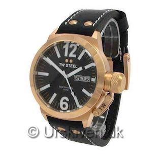 CE1021 TW Steel Canteen CEO<br>45 mm med rosa forgyldning
