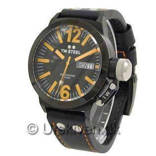CE1027 TW Steel Canteen CEO<br>45 mm med orange detaljer