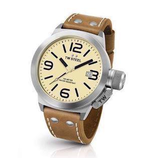 TW Steel 50 mm cream Quartz Herre ur, model CS12
