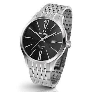 TW Steel 45 mm sort Quartz Herre ur, model TW1306