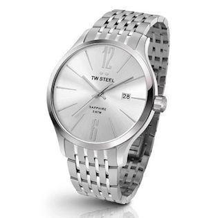 TW Steel 45 mm sølv Quartz Herre ur, model TW1307
