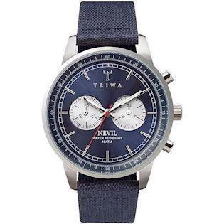 Triwa Blue Steel Nevil  herreur med chrongraph og canvas rem, ANEST108CL060712