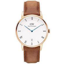 Daniel Wellington Dapper Durham rosa forgyldt quartz Dame ur, model DW00100113