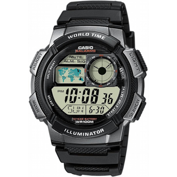 AE-1000W-1BVEF, Casio Collection sort Herre ur