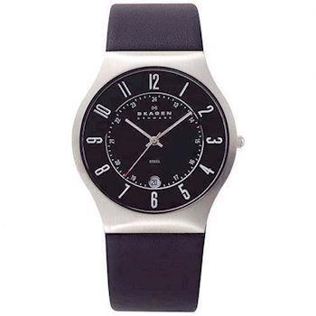 Skagen Steel / Leather Kollektion Herre ur, 233XXLSLB