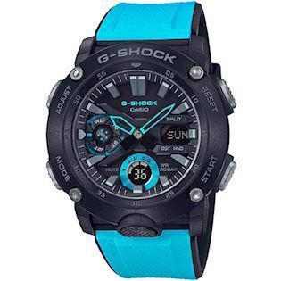 Casio G-Shock sort carbon (5590) multifunktions quartz Herre ur, model GA-2000-1A2ER