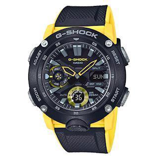 Casio G-Shock sort carbon (5590) multifunktions quartz Herre ur, model GA-2000-1A9ER