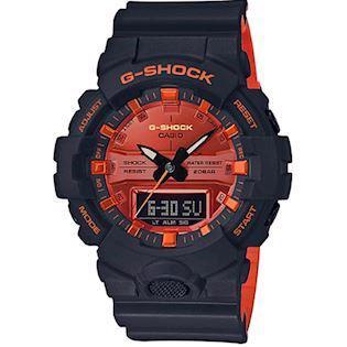 Casio G-Shock sort / rød resin  (5535) multifunktions quartz Herre ur, model GA-800BR-1AER
